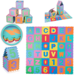 Baby Vivo Large 86 Pieces Puzzle Soft EVA Foam Play Mat with Numbers and Alphabet 190 x 190 cm