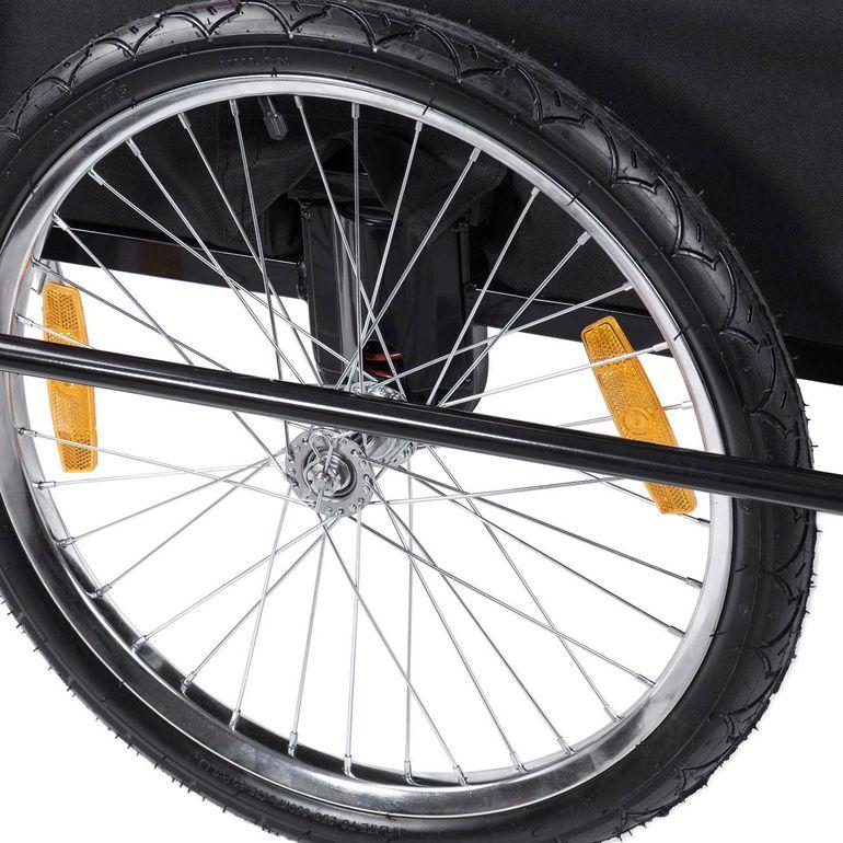 SAMAX Children Bike Trailer 2in1 Jogger Stroller with Suspension - in Yellow/Black - Black Frame – Bild 13