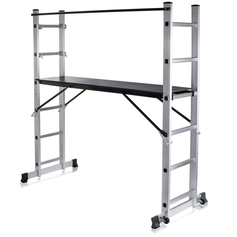 MAXCRAFT Mobile Aluminium Work Platform / Multifunction Scaffold with Wheels – Bild 2