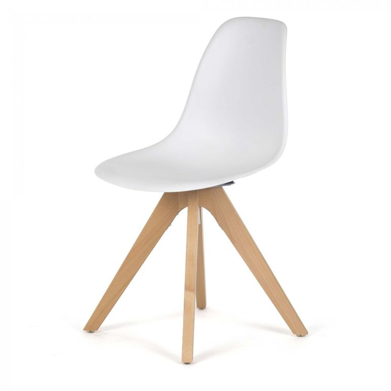 Makika Chaise de Design Siège de Bureau - BEEZ UP Ensemble de 2 en Blanc – Bild 3