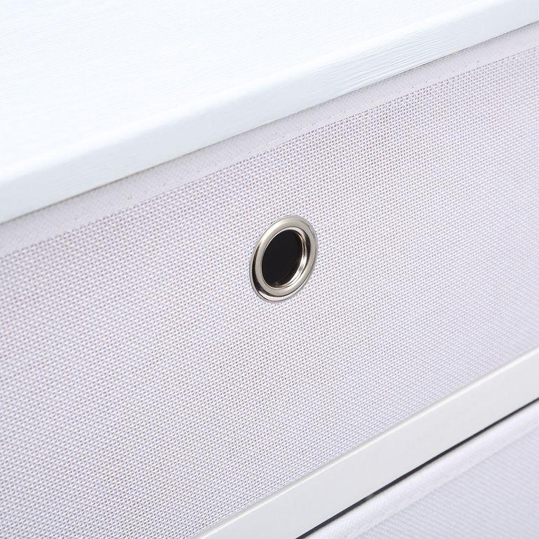 Makika Faltbare Kommode mit 3 Schubladen in Weiß – Bild 9