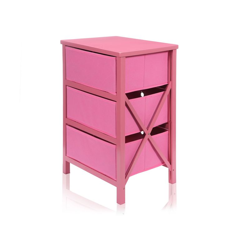 Makika Foldable Chest of drawers with 3 Drawers for Children in Pink – Bild 6