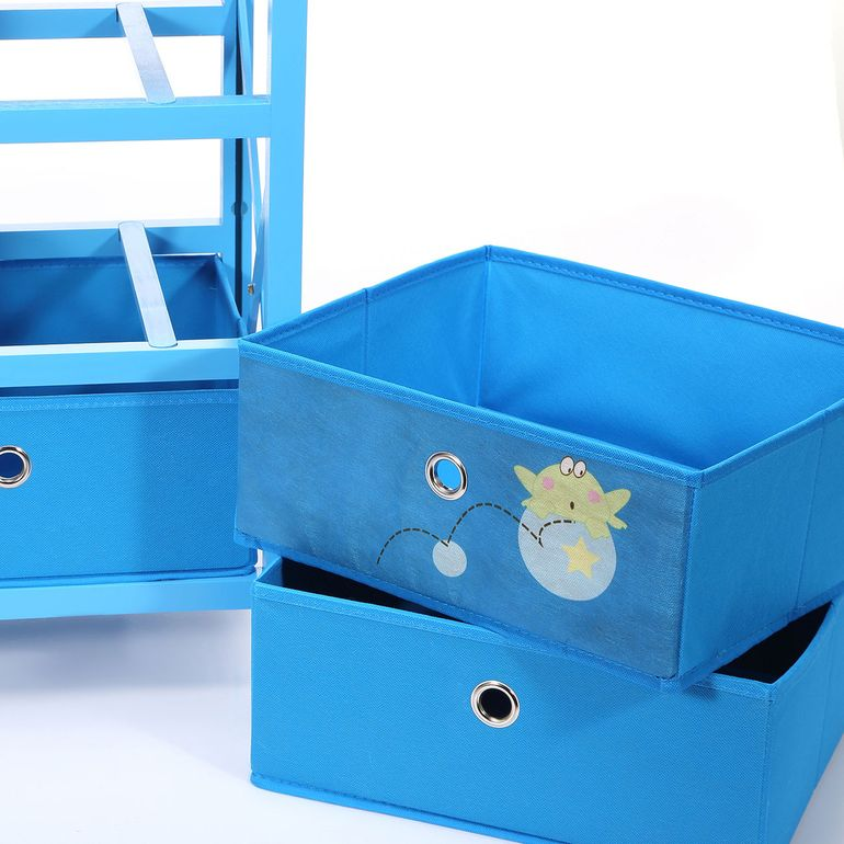 Makika Foldable Chest of drawers with 3 Drawers for Children in Blue – Bild 10