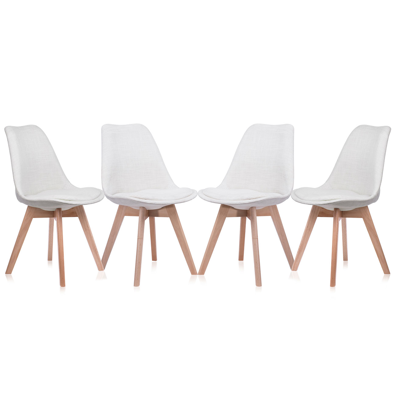 Makika retro stuhl design stuhl zura cream 4er set haus for Design stuhl freischwinger piet 30