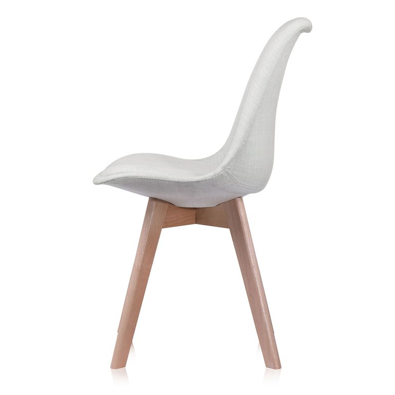 Makika Chaise de Design Siège de Bureau - ZURA CREAM Ensemble de 4 – Bild 6