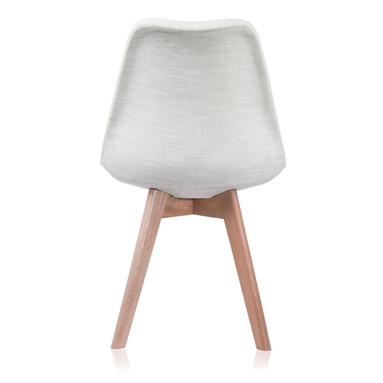 Makika Chaise de Design Siège de Bureau - ZURA CREAM Ensemble de 4 – Bild 7