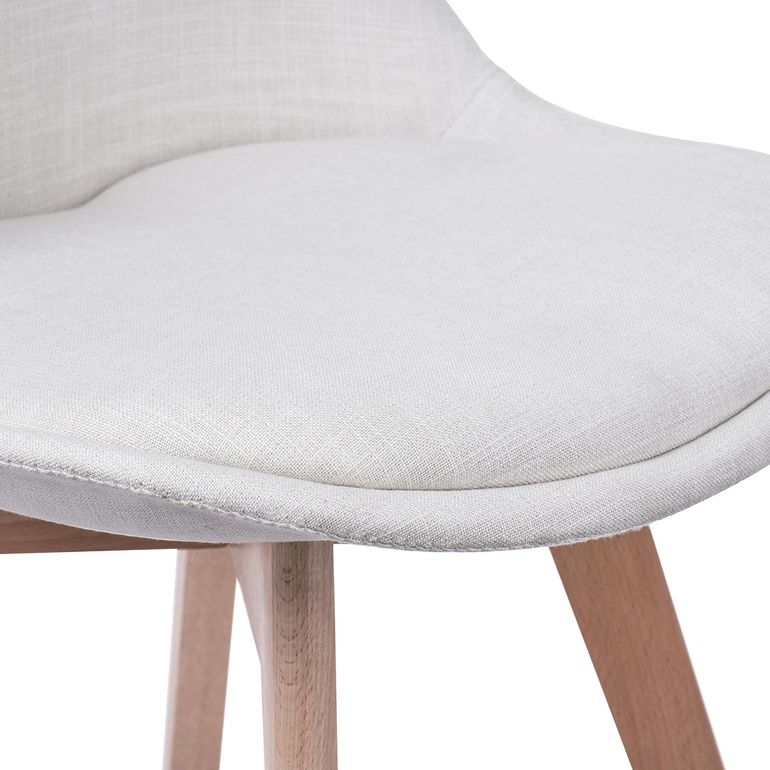 Makika Chaise de Design Siège de Bureau - ZURA CREAM Ensemble de 4 – Bild 11