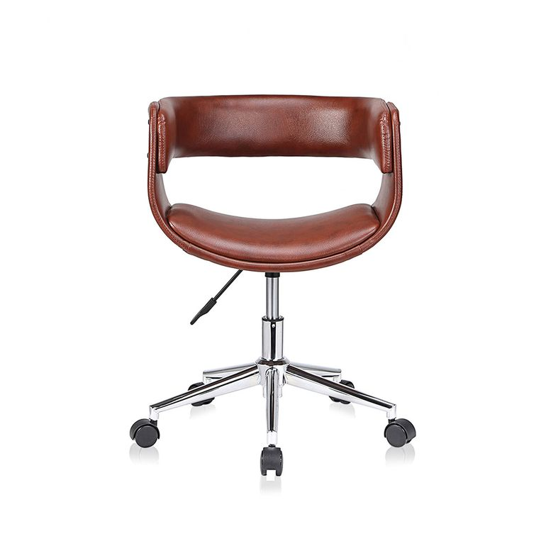 MY SIT Office Swivel Stool with backrest - Francis in Brown – Bild 2