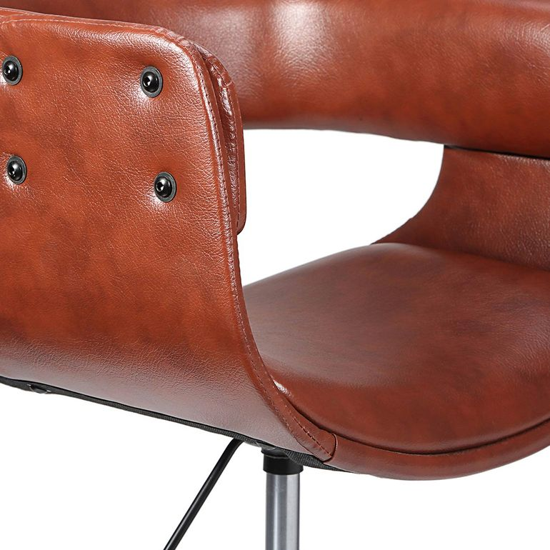 MY SIT Office Swivel Stool with backrest - Francis in Brown – Bild 8