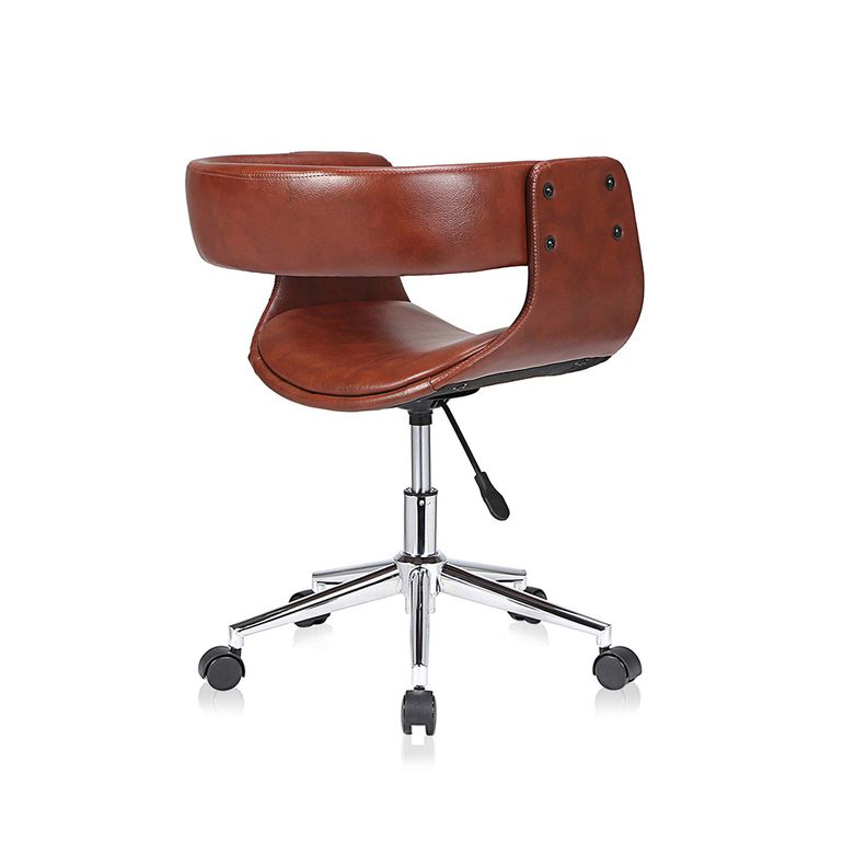 MY SIT Office Swivel Stool with backrest - Francis in Brown – Bild 5