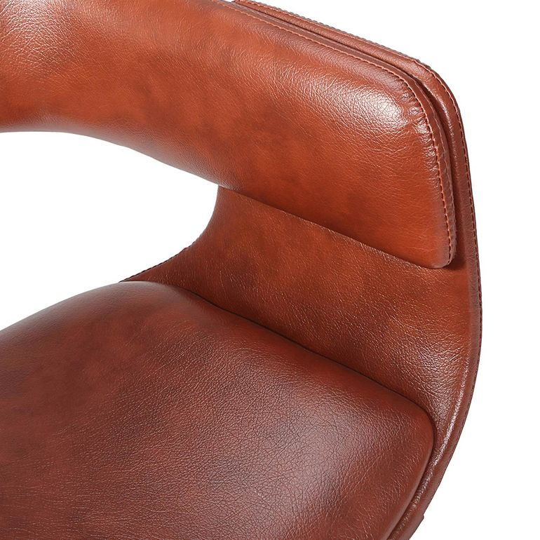 MY SIT Office Swivel Stool with backrest - Francis in Brown – Bild 11