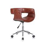 MY SIT Design-Bürostuhl Drehhocker - Francis in Braun