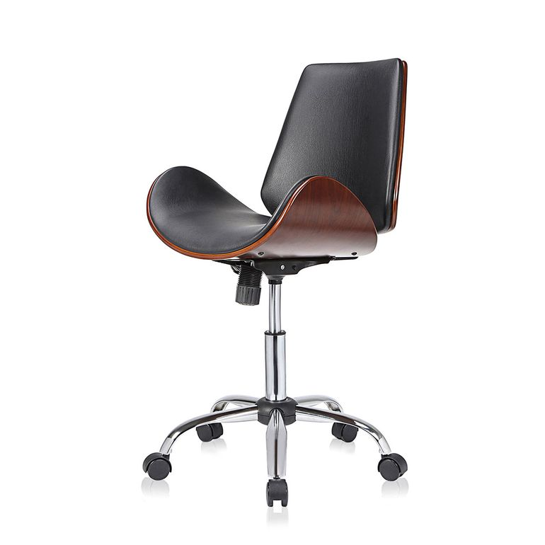 MY SIT Office Swivel Stool with backrest - Constance in Black/Brown – Bild 3