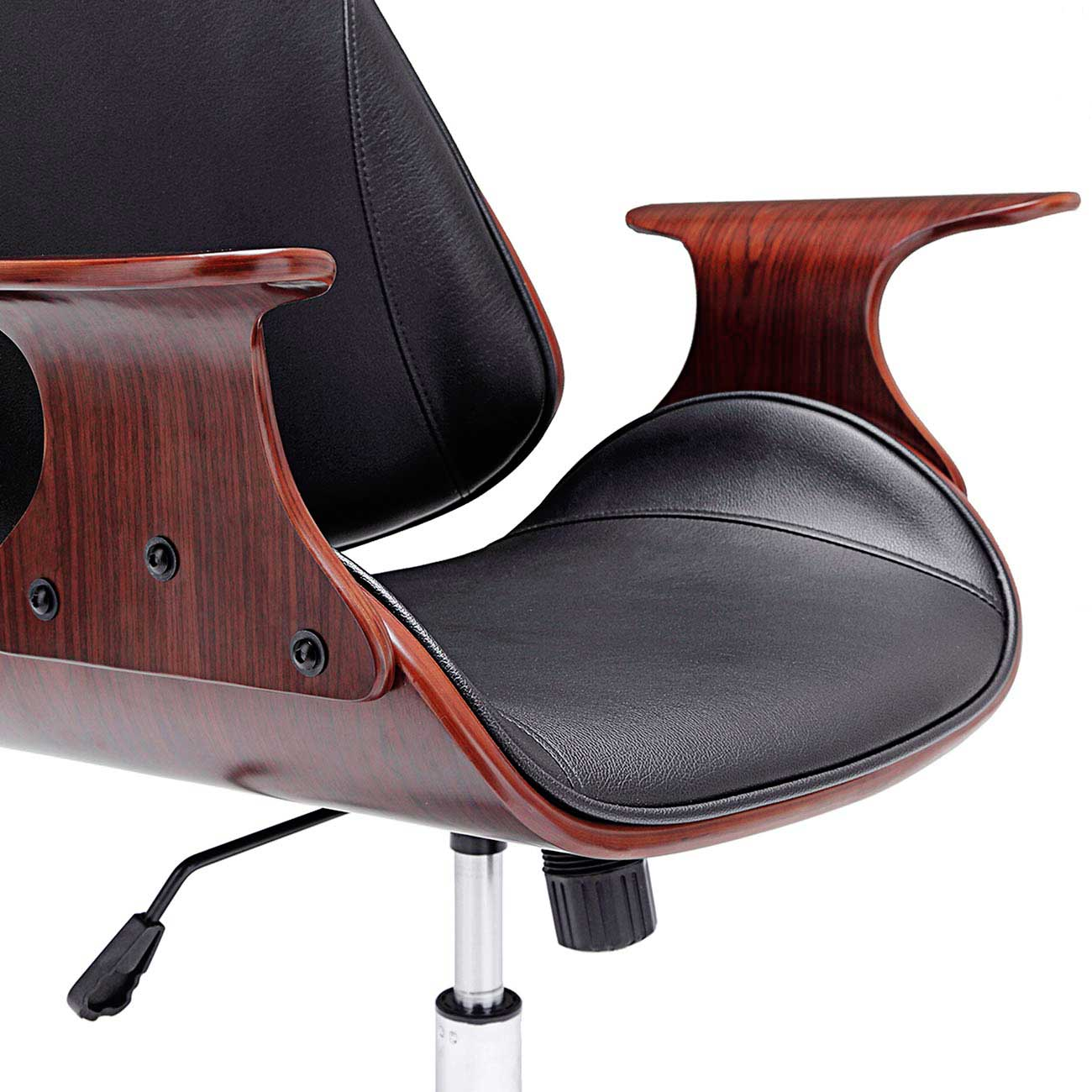 Sedia retro vintage design girevole ecopelle ruote for Design sedia ufficio