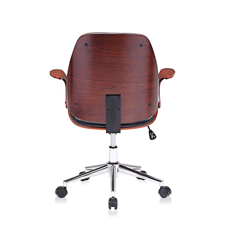 MY SIT Office Swivel Stool with backrest - Sadie in Black/Brown – Bild 4