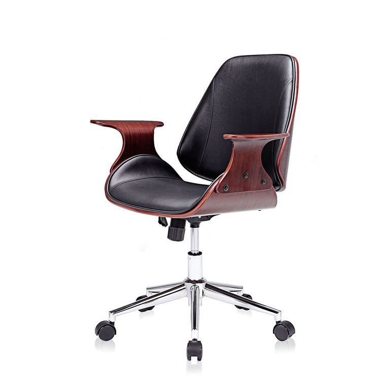 MY SIT Office Swivel Stool with backrest - Sadie in Black/Brown – Bild 3