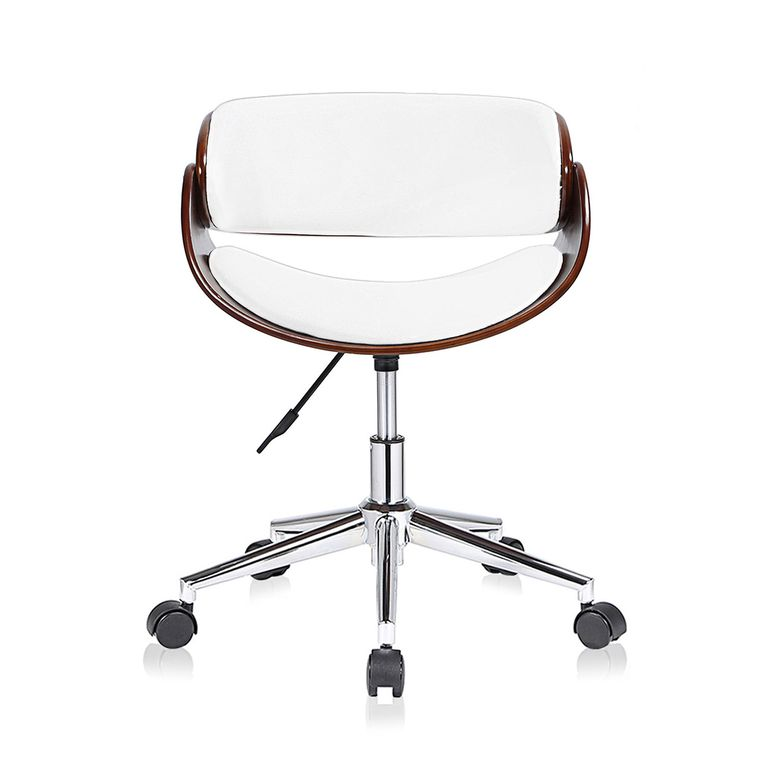 MY SIT Office Swivel Stool with backrest - Hazel in White/Brown – Bild 2