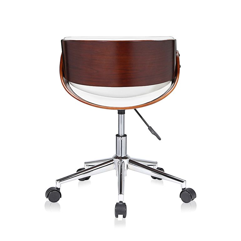 MY SIT Office Swivel Stool with backrest - Hazel in White/Brown – Bild 4