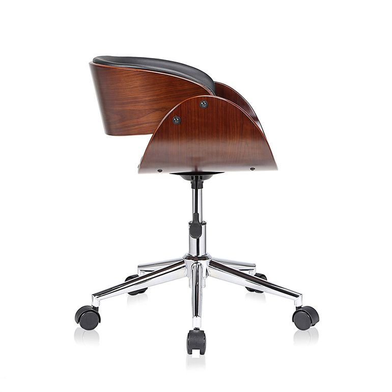 MY SIT Office Swivel Stool with backrest - Hazel in Black/Brown – Bild 6