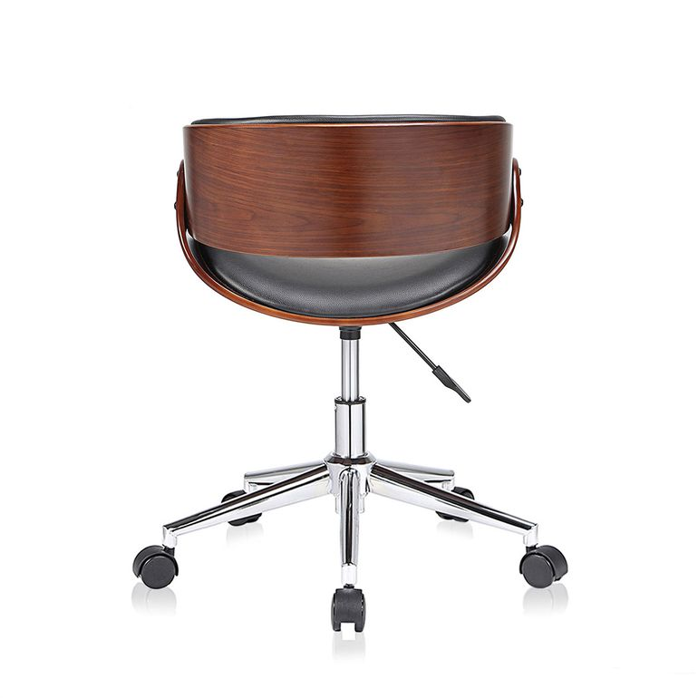 MY SIT Office Swivel Stool with backrest - Hazel in Black/Brown – Bild 4