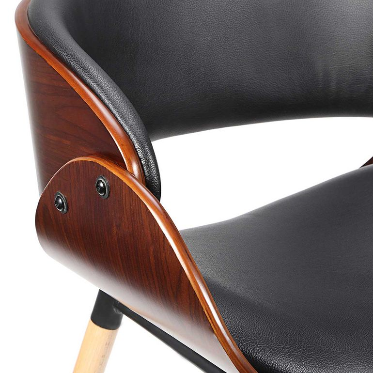 Makika Design Office Chair with backrest - Belle in Black/Brown – Bild 11