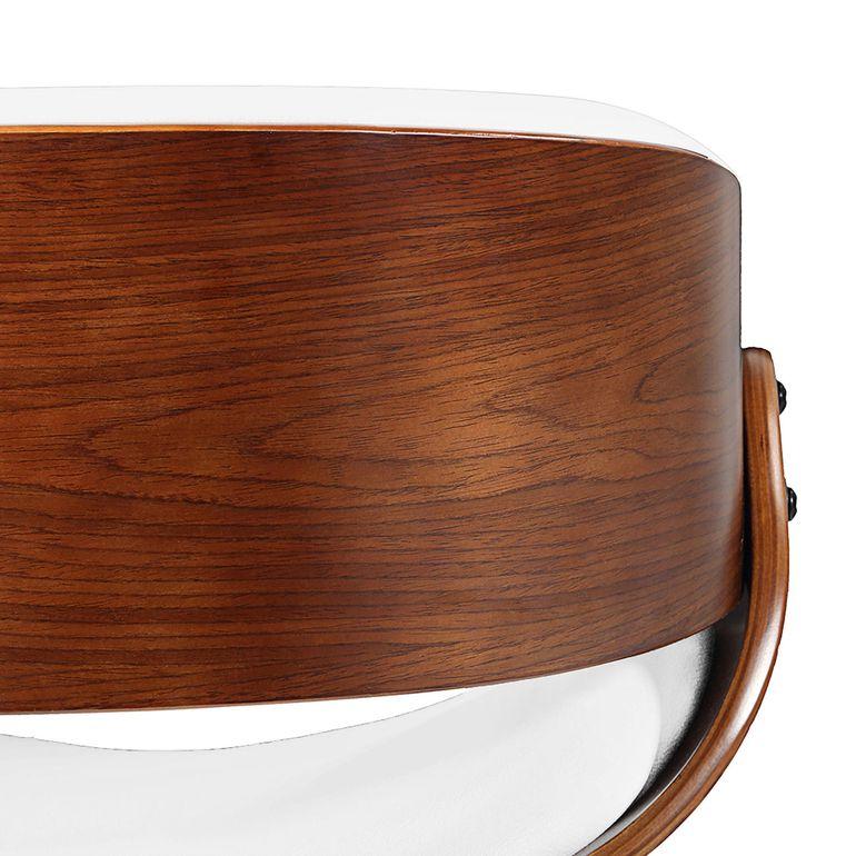 Makika Design Office Chair with backrest - Belle in White/Brown – Bild 13