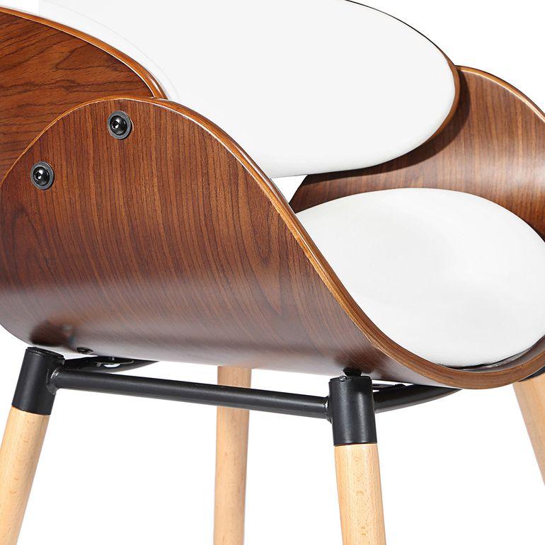 Makika Retro Design-Bürostuhl - Belle in Weiß/Braun – Bild 7