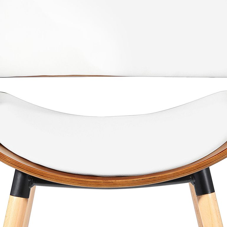 Makika Design Office Chair with backrest - Belle in White/Brown – Bild 9