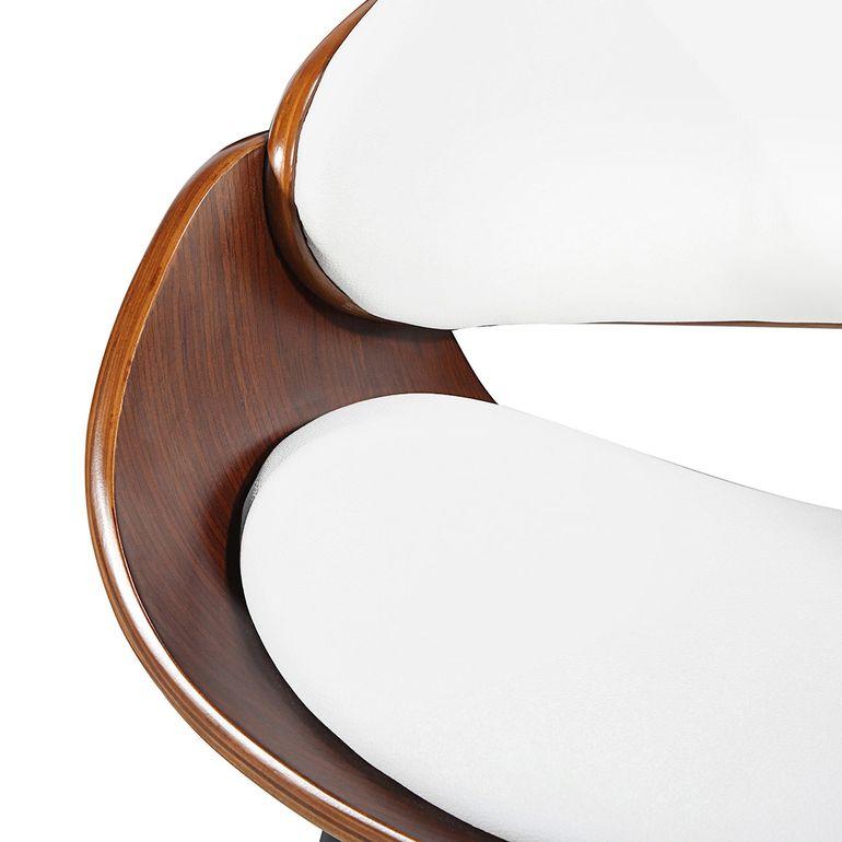 Makika Retro Design-Bürostuhl - Belle in Weiß/Braun – Bild 8