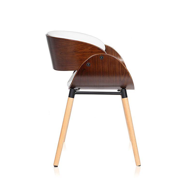 Makika Design Office Chair with backrest - Belle in White/Brown – Bild 6