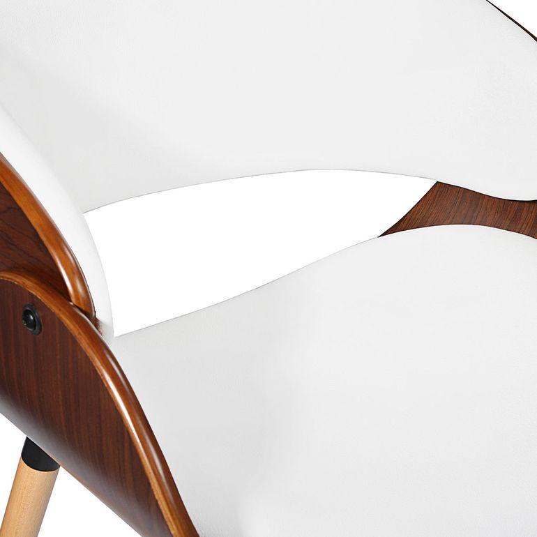Makika Design Office Chair with backrest - Belle in White/Brown – Bild 11