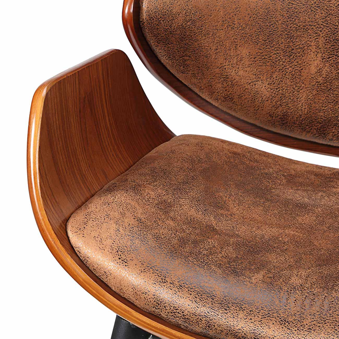 Sedia Retro Vintage Design Moderna Imbottita Ecopelle Legno Massello ...
