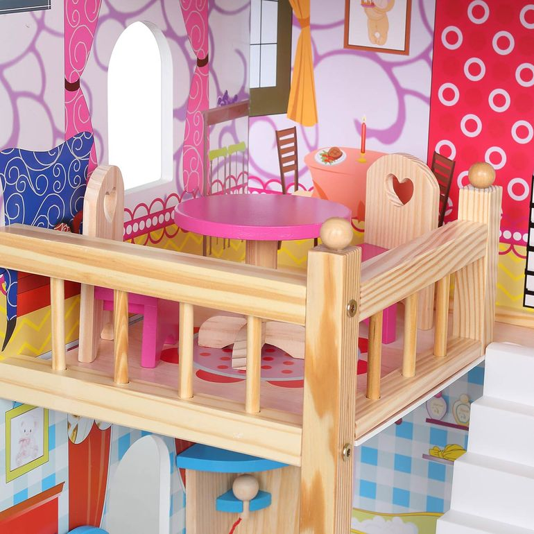 Baby Vivo Wooden Doll House Rosalie with Accessories – Bild 11