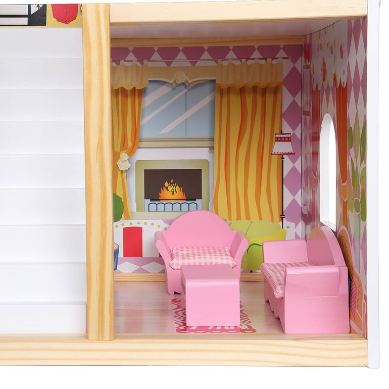 Baby Vivo Wooden Doll House Rosalie with Accessories – Bild 12