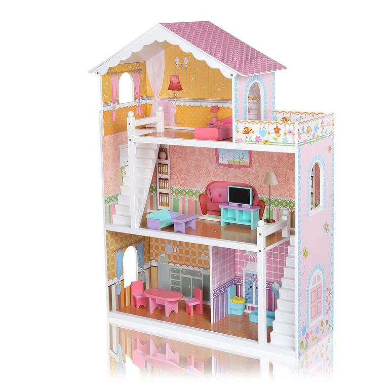 Baby Vivo Wooden Doll House Violetta with Accessories – Bild 1