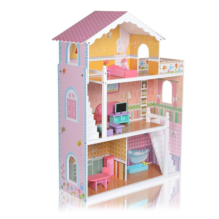 Baby Vivo Wooden Doll House Violetta with Accessories – Bild 3