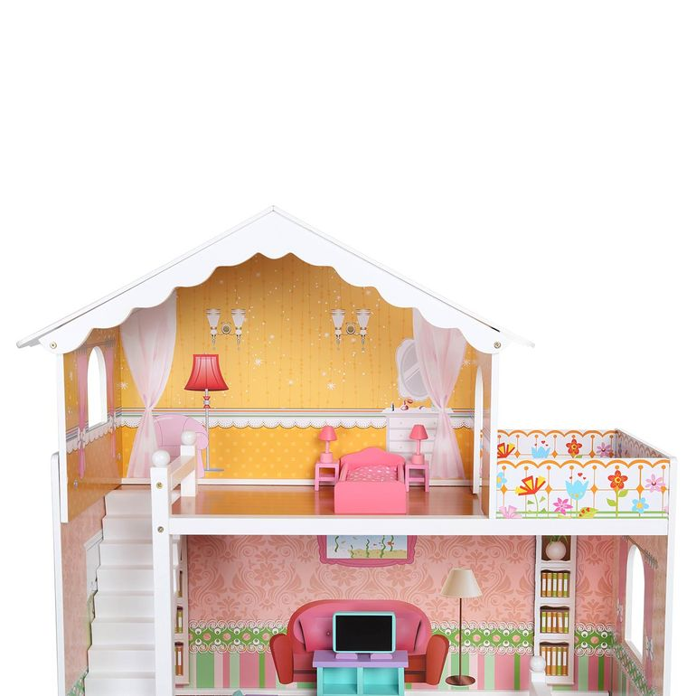 Baby Vivo Wooden Doll House Violetta with Accessories – Bild 5
