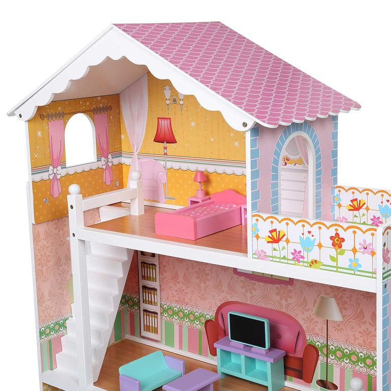 Baby Vivo Wooden Doll House Violetta with Accessories – Bild 6