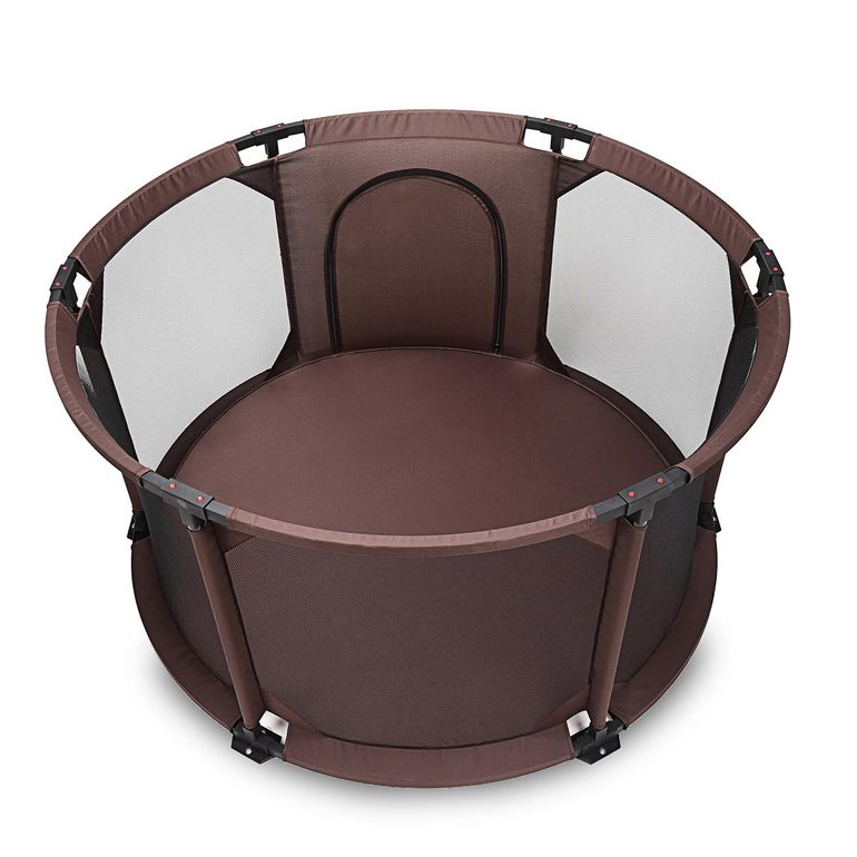Baby Vivo Baby Child Playpen Flexi Portable / Foldable in Brown - Round – Bild 5