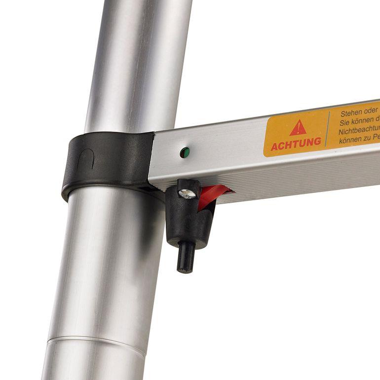 MAXCRAFT 3,20 m Teleskopleiter / Anlegeleiter mit Fingerklemmschutz - Abstandshalter - B-Ware – Bild 6
