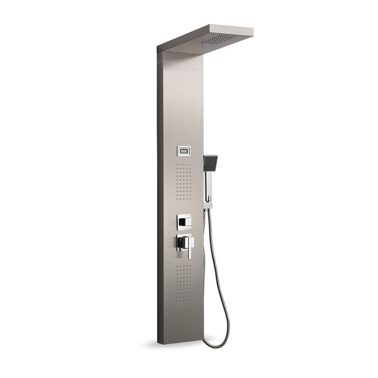GAJO Shower Panel Rain Shower made of Stainless steel with digital Temperature display - Aqua