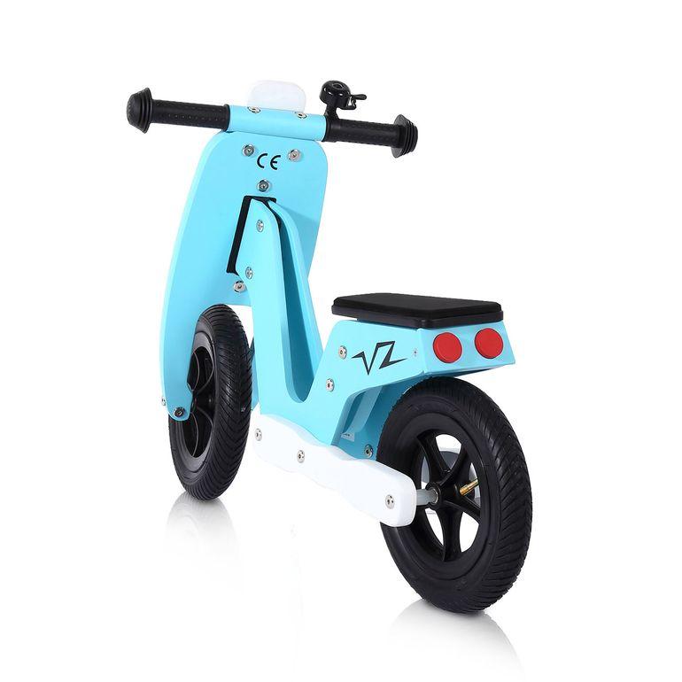 Baby Vivo 10 Zoll Kinderlaufrad / Laufrad aus Holz mit Klingel - Capri blau – Bild 3