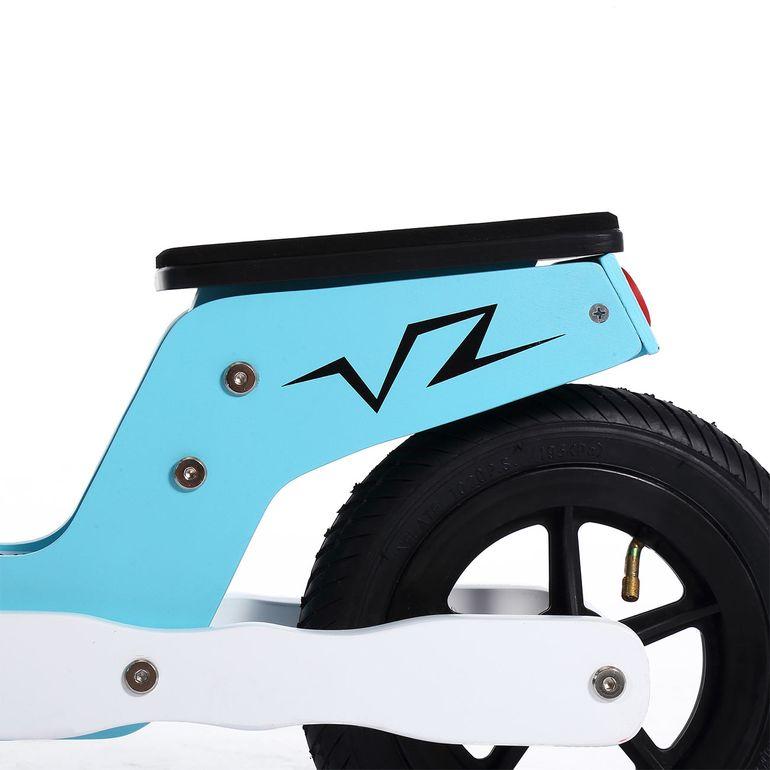 Baby Vivo 10 Zoll Kinderlaufrad / Laufrad aus Holz mit Klingel - Capri blau – Bild 9