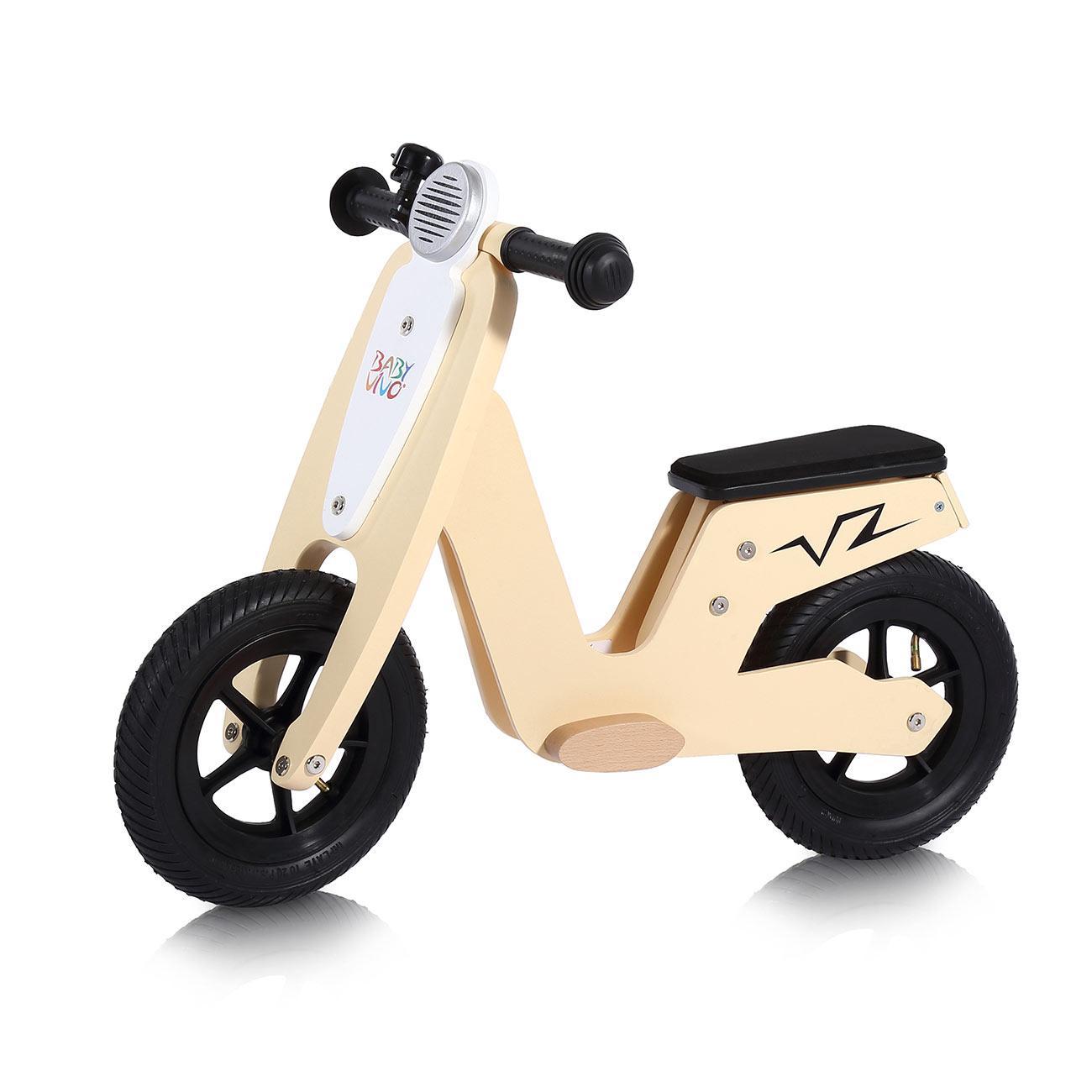 Baby Vivo Bicicletta Per Bambini 10 Pollici In Legno Con Campanello Capri Ma Trading