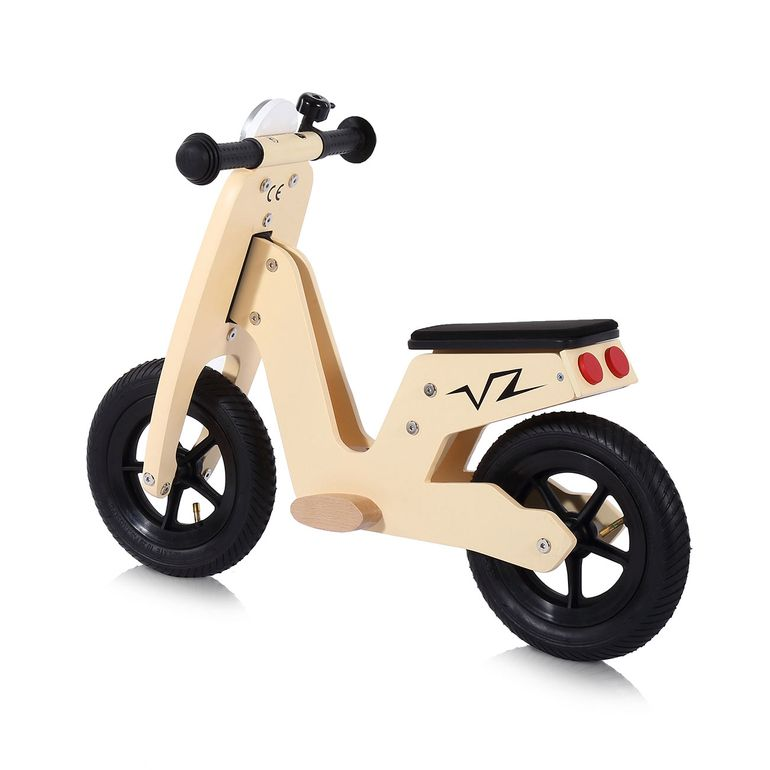 Baby Vivo 10 inch balance bike / trainer bike made of wood with bike bell - Capri