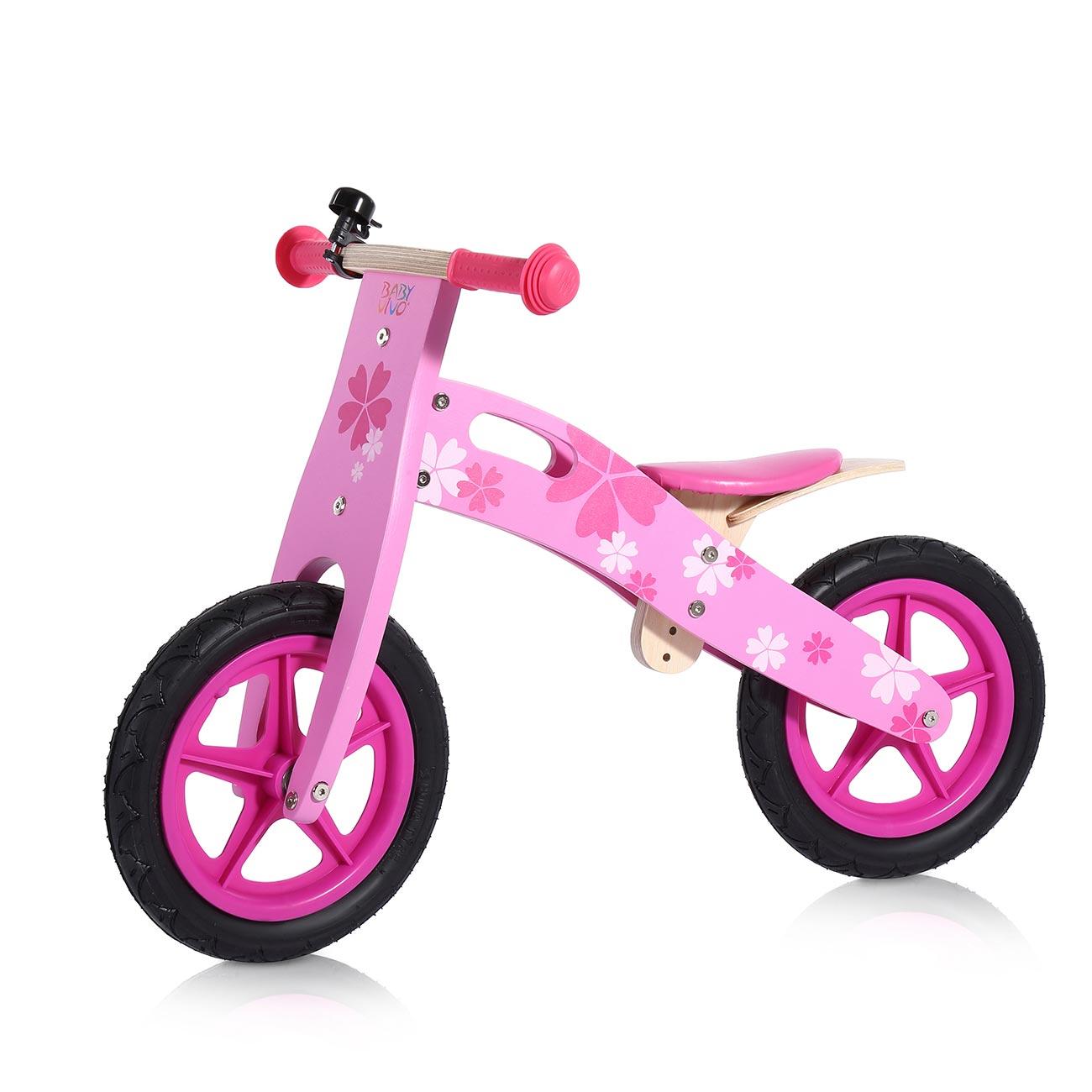 Baby Vivo Bicicletta Per Bambini 12 Pollici In Legno Con Campanello Pinky Ma Trading
