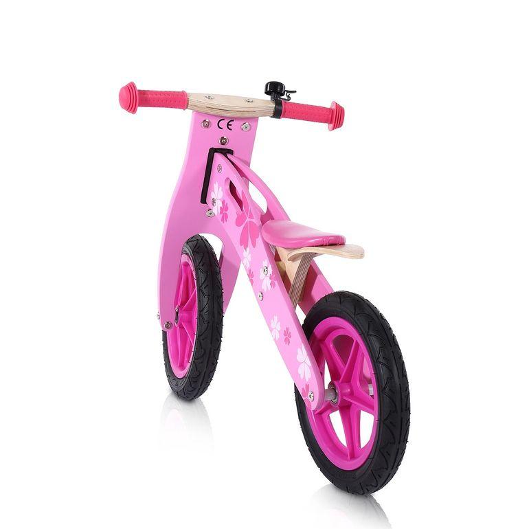 Baby Vivo 12 Zoll Kinderlaufrad / Laufrad aus Holz mit Klingel - Pinky – Bild 3