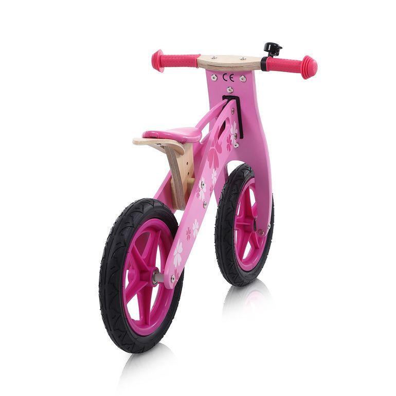 Baby Vivo 12 Zoll Kinderlaufrad / Laufrad aus Holz mit Klingel - Pinky – Bild 4