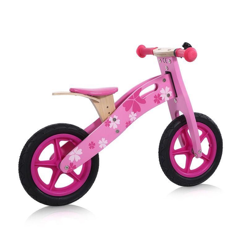 Baby Vivo 12 Zoll Kinderlaufrad / Laufrad aus Holz mit Klingel - Pinky – Bild 5