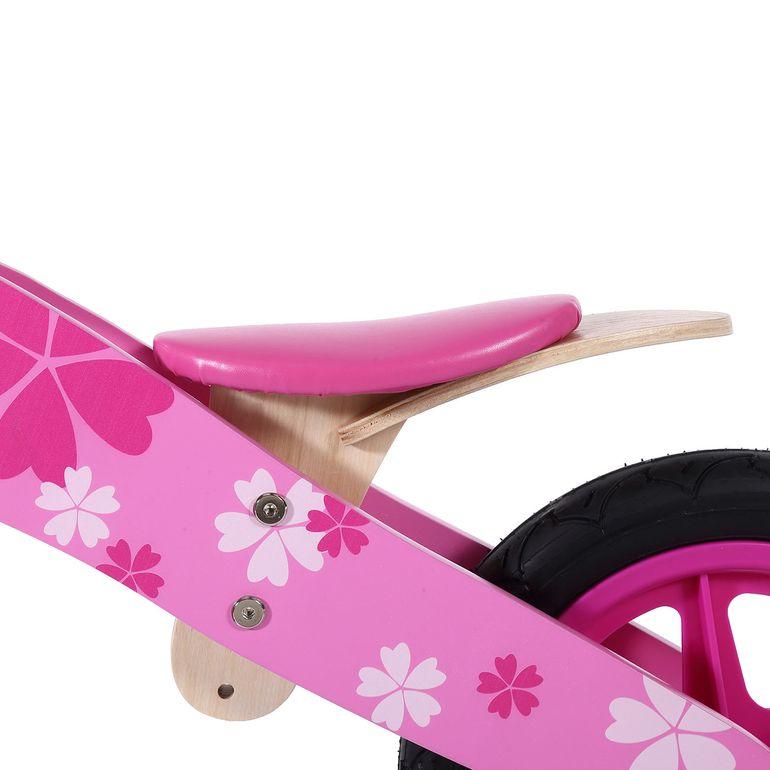 Baby Vivo 12 Zoll Kinderlaufrad / Laufrad aus Holz mit Klingel - Pinky – Bild 9